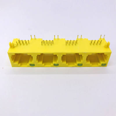 RJ45 5ja1x4 without shell with lamp yellow