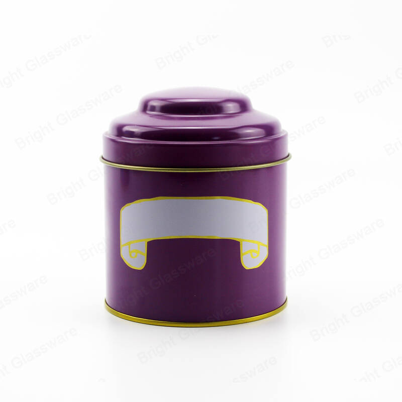 Purple Pink Red Mushroom Shape Tin Coffee Metal Box Tes Sugar Packaging Cajas de regalo