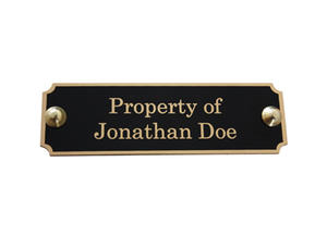 custom antique engraved brass door name plates with high quality wholesaler