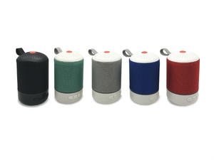 2019 Fabric Art Bluetooth Speaker Column Portable Handle Bass FM Radio Wireless Enceinte Bluetooth Portable Speakers