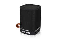 Outdoor Portable Powerful Fabric Bluetooth Speaker with Leather Handle