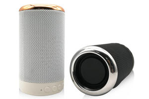 Fabric Wireless Audio Bass Effect Speaker High Quality Cylindrical Cylinder Portable Mini Bluetooth Speaker