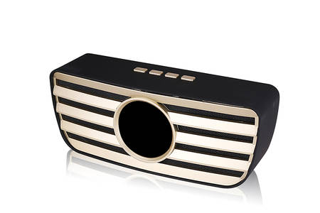 column portable handle bass FM radio wireless speaker
