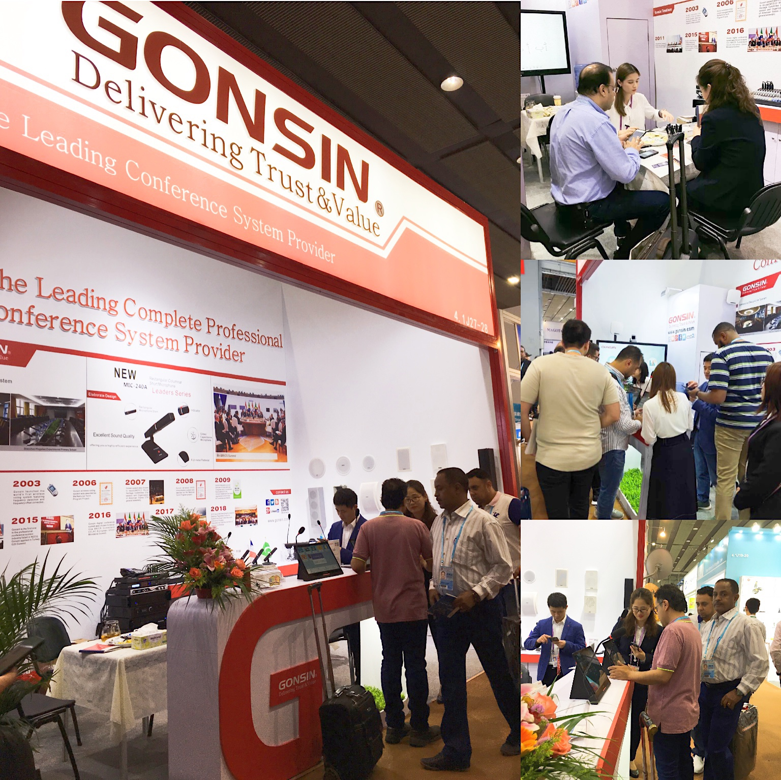 GONSIN Further Opens Overseas Market in the 125th Canton Fair