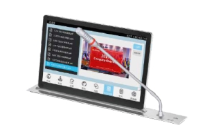 Android Paperless Conference System-LCD Screen Mic Lifter All In One Terminal