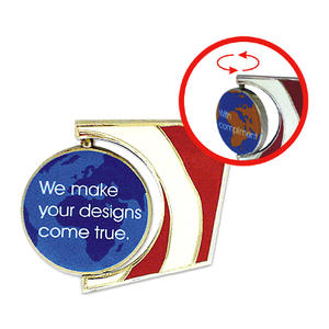 Custom spinning pins with rotating shaft more attractive and funny for trading