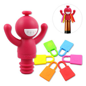 Wine Accessories Custom Silicone Wine Stopper/ Charm with your brand logo