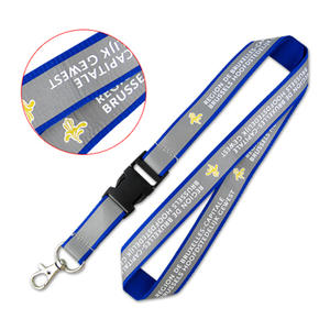 Custom Reflective Lanyards with Additional Safety Level for events at night