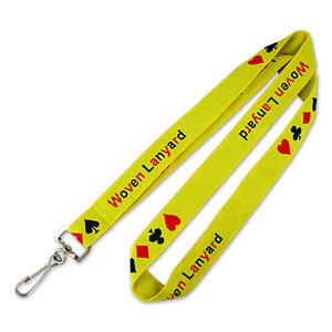 Custom Woven Logo Lanyards with Simple Lanyard Designs wholesale from Jian