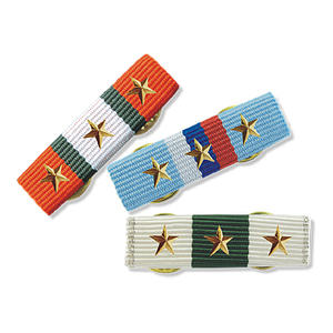 Medal ribbons in various styles to fit for military, school medals on uniform