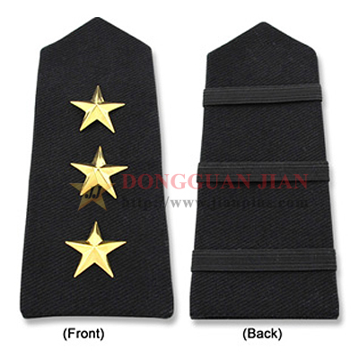 Custom Rank Epaulettes with metal insignia
