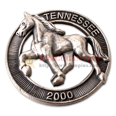 3D Badge of Horse Design