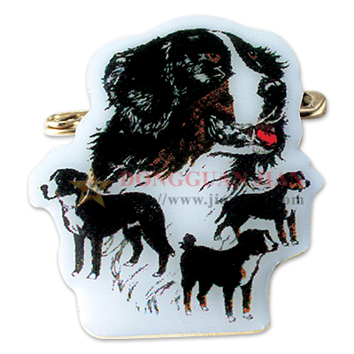 Dogs Offset Printed Pin