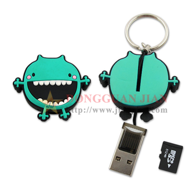 Soft PVC USB Memory Card Reader