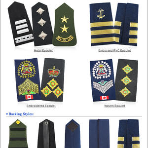 Custom Navy Air Force Shoulder Boards Insignia Embroidery Military Rank insignia