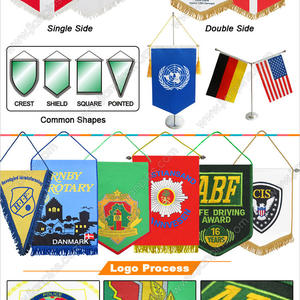 Newly Released Ideal Indoor Branding Pennant Flags from JIAN
