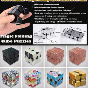 Infinity Fidget Cube Stress Reliever Toy, Magic Folding Cube Puzzles From JIAN