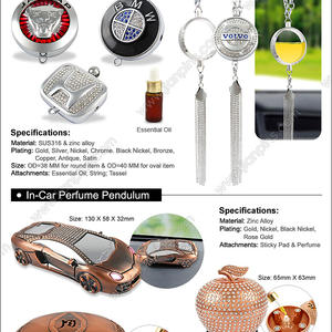 Fashion metal In-car air freshener wholesaler supplies hot-sale air freshener.