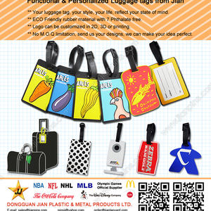 Non-Toxic Functional PVC Luggage Tags with factory Price