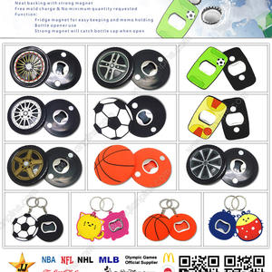 Personalized PVC Bottle Openers For Sales Promotion