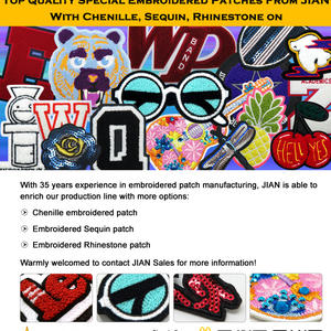 Fabulous Special Embroidered Patches with high quality
