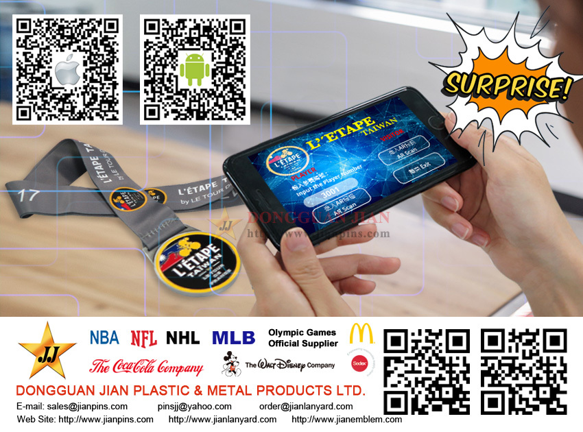 Quality medal with augmented reality applications