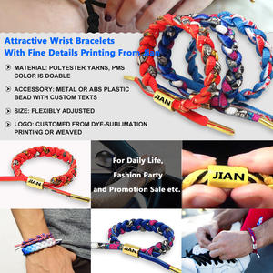 Fashionable paracord bracelet with logo from Jian
