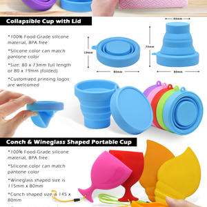 Silicone Collapsible Cup Convenient to Carry Along for Outdoor Activities