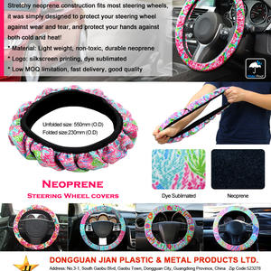 Stylish neoprene Steering wheel covers with custom logo at low factory price