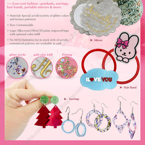 Novel Acrylic Products (Pendants/Earrings) of low-cost fashion newly released