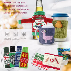 Dress drinks/cups in personalized knitted drink koozie to make a stylish life