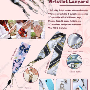 Novel Silky Scarf &Wristlet Lanyards are Impressive Fashion Gifts for Ladies
