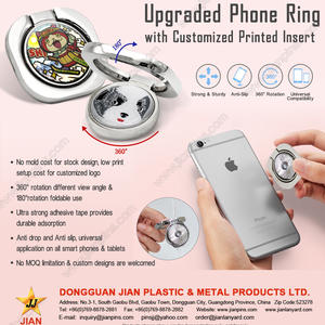 Upgraded Phone ring holder with Customized Printed Insert without Mold Charge