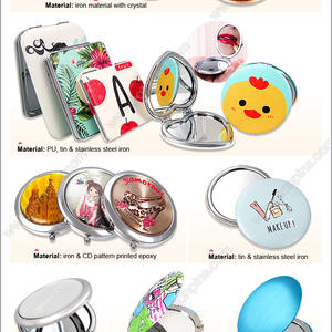 Acrylic & Metal Pocket Makeup Mirrors Aluminum Cosmetic Mirrors