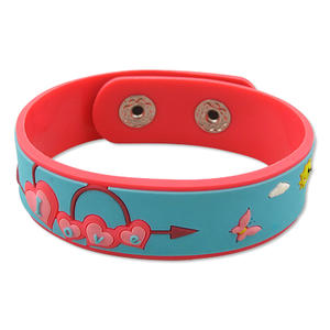 Custom soft PVC Wristbands are Suitable for Promotion or Advertising Purposes