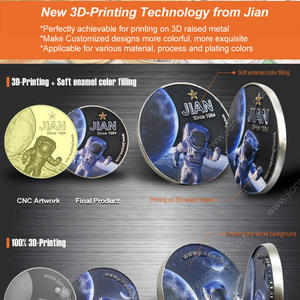 Custom Challenge Coins Made by Brand New 3D Printing Technology from JIAN