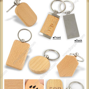 engraving Wood Metal Keychains personalized Wooden Keychains
