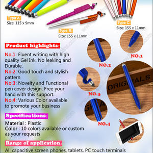 Novel design 3 in 1 Multifunctional phone stand Gel Ink Pens