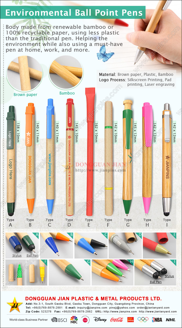 Environmental Friendly Ball Point Pens