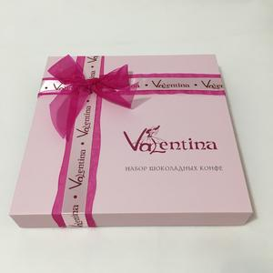 foldable chocolate box with grace surface treatment and ribbon