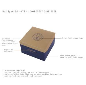 Foldable Icecream Cake Box With Ice Bag Assorted