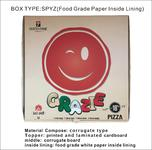 logo printing customize food grade white paper inside lining corrugate pizza box