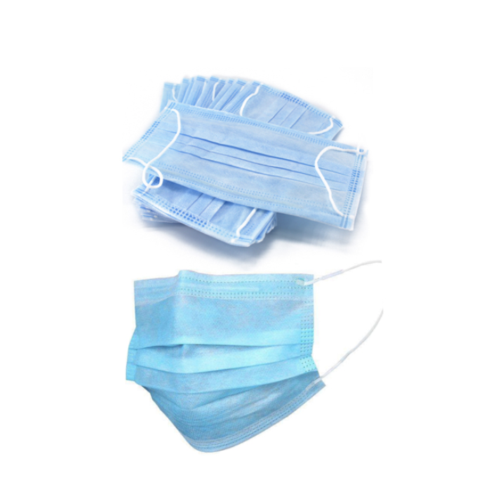 disposable anti-virus non woven material 3 ply face mask