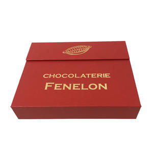 Twenty Pcs Load Chocolate Box Hand Made Luxury Chocolate Box Rigid Chocolate Box Chocolate Gift Box With Paper Divider