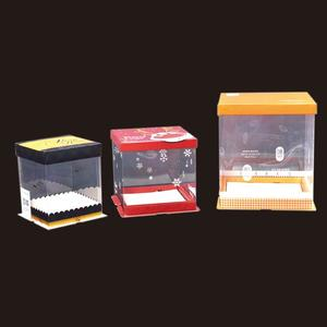 China top factory safe certificated pvc cake box supplier