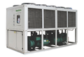 335KW air cooling screw type water chiller unit to Mexico for plastic extruder