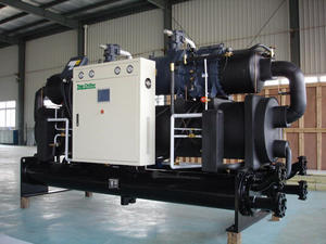 Mexico Used 430KW Water Cooled Hanbell Screw Compressor Chiller In Frequency Smelting Furnance