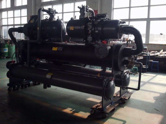water to water cooling screw chiller system