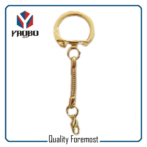 Gold Key Ring With Chain