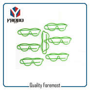 Green Color Glasses Paper Clips